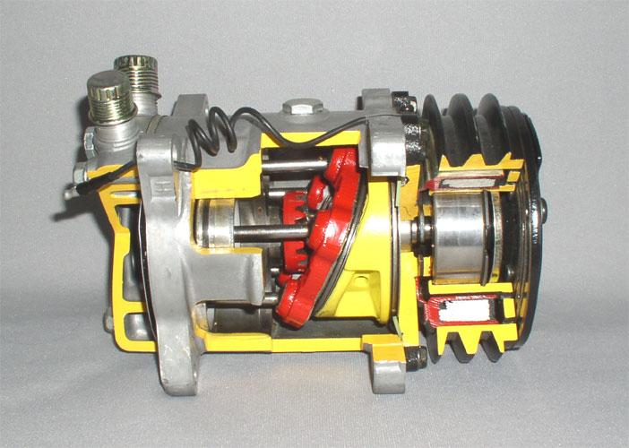компрессор кондиционера в разборе