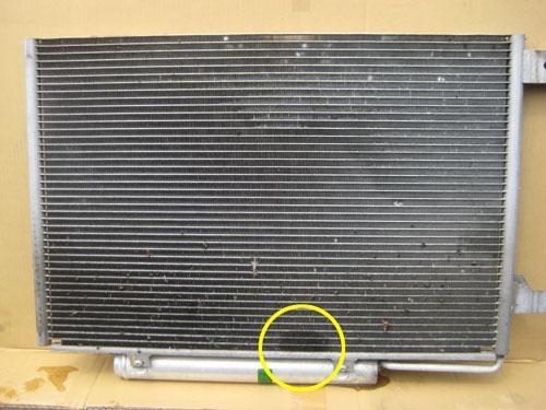 дырка в радиаторе кондиционера